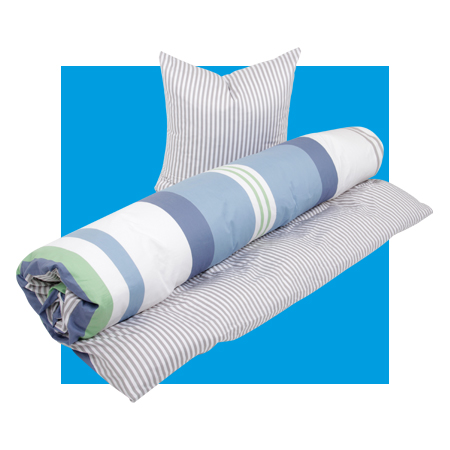 Linge de lit et serviettes épong